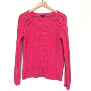 Gap Pink Chunky Cable Knit Sweater